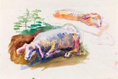 Maria Lassnig, 'Sheeps', 1973-1985