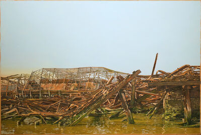 Joseph McNamara, 'Hudson River Skeleton Piers', 2020