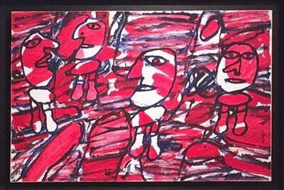 Jean Dubuffet, 'Site aléatoire avec 4 personnages', 1982