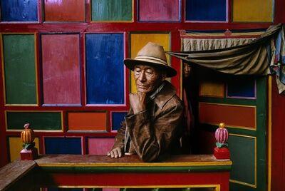 Steve McCurry, ' A Pilgrim in Drango Monestery, Tibet', 1999