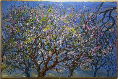 Bruno Zupan, 'Almond Blossoms (Diptych)', 2014