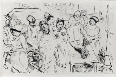 Max Beckmann, 'The Large Operation', ca. 1914