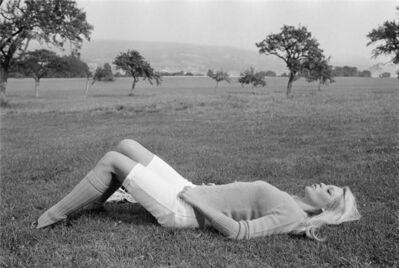 Terry O'Neill, 'Brigitte Bardot lying on the grass', 1968
