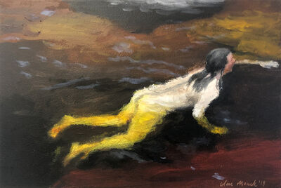 Clare Menck, 'Swimmer with yellow legs ', 2019
