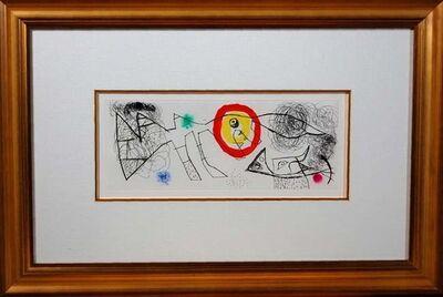Joan Miró, 'Erik Satie (Poems and songs) # 1065', 1969