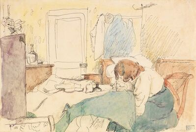 Jules Pascin, ' Hermine Drawing', 1908