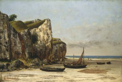 Gustave Courbet, 'Beach in Normandy', ca. 1872/1875