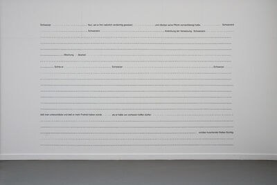 Charles Gaines, 'Submerged Text (The Castle by Franz Kafka)', 1992