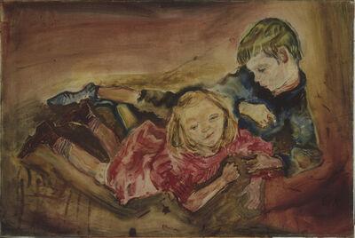 Oskar Kokoschka, 'Children Playing', 1909