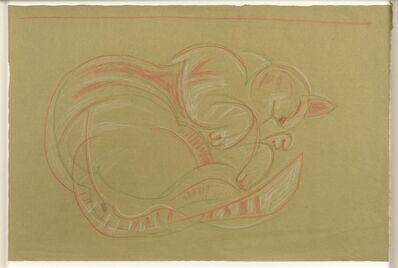 John Craxton, 'Sleeping Cat', ca. 1960s
