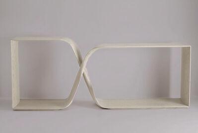 Carol Egan, 'Hand-Carved Cerused Oak 'Sculptural Twist' Freestanding Console ', 2014