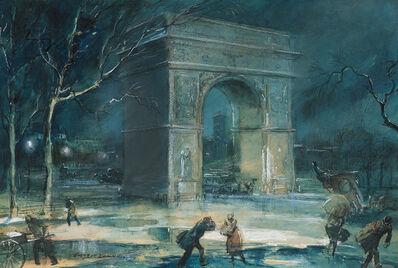 Everett Shinn, 'The Arch, Washington Square', 1929