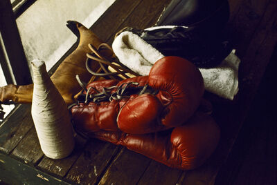 Thomas Hoepker, 'Boxing gear in Chris Dundee's fifth street gym', 1966