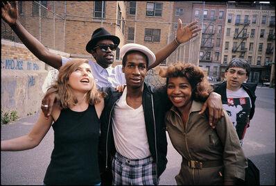 Charlie Ahearn, 'Grand Master Flash, Debbie Harry & Fab 5 Freddy photograph', 1981/printed later