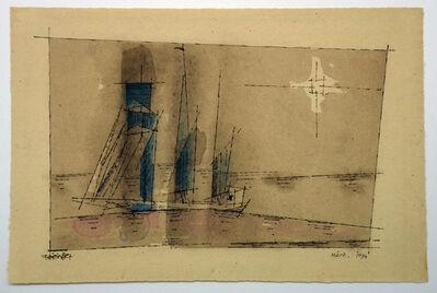 Lyonel Feininger, 'Segler im Mondschein', 1934