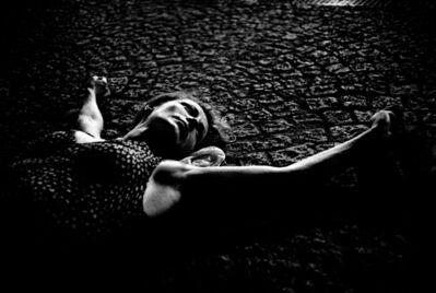 Jehsong Baak, 'Woman Lying on Pavement', 2003