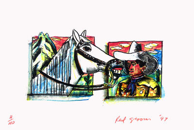 Red Grooms, 'Western Pals', 1997