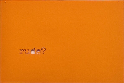 Andrea van der Straeten, 'Just a Minute... (rude)', 2010