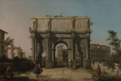 Canaletto, 'View of the Arch of Constantine with the Colosseum', 1742-1745