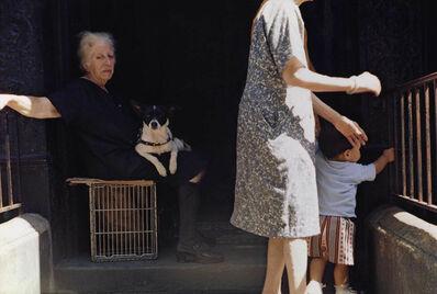 Helen Levitt, 'N.Y.C. (woman seated with dog)', 1972