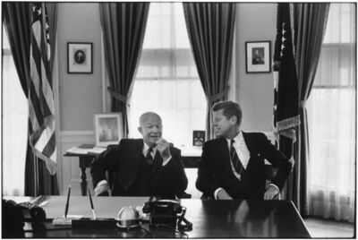 Elliott Erwitt, 'President Dwight D. Eisenhower and President-elect John F. Kenendy', 1960