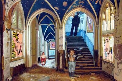 Gully, 'Children Meet Lichtenstein in the Castle 1', 2016