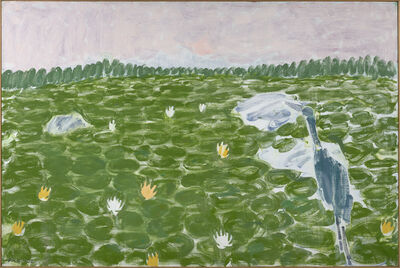 Stephen Pace, 'Lily Pond, Blue Heron'