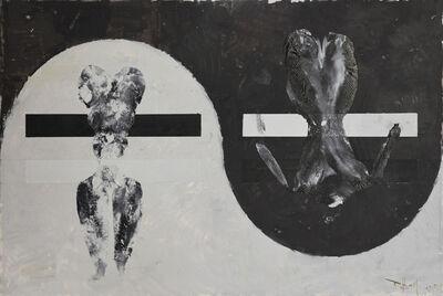 Huang Rui, 'Black and White Canvas No.7', 2015