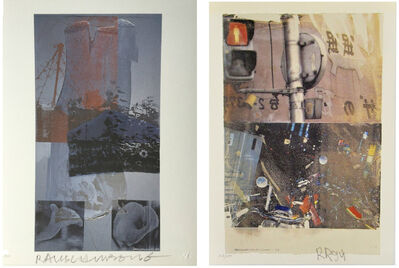 "Robert Rauschenberg, '2-PIECE SET- ""Bulkhead"" & ""Tanya's Veil"", 1993/94, SIGNED Editions, WFUNA, w/ United Nations COA ', 1992"