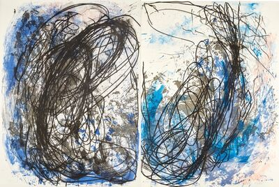 Ian McKeever, 'Untitled diptych', 1984-85