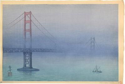 Kakunen Tsuruoka, 'Golden Gate Bridge in Fog (test print)', ca. 1937