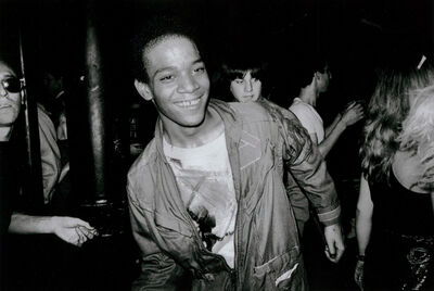 Nicholas Taylor, 'BASQUIAT Dancing at The Mudd Club, 1979 (Basquiat Boom For Real photograph)', 1979 printed later