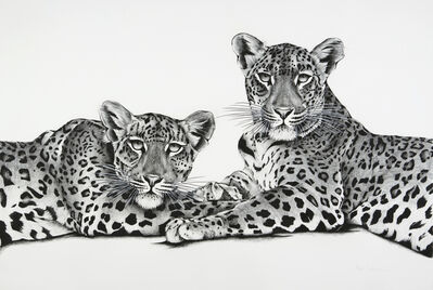 Rose Corcoran, '15. Jawai Leopards Mother and Cub', 2018