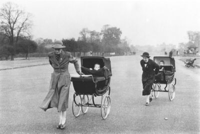 Bruce Davidson, 'Nannies with Baby Carriages. London, England, 1960 from the series England/Scotland 1960', ca. 1960