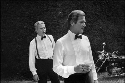 """Patrick Zachmann, 'American actors Roger MOORE and Christopher WALKEN on the set of """"A view to kill"""", a James Bond directed by John GLEN', 1985"""