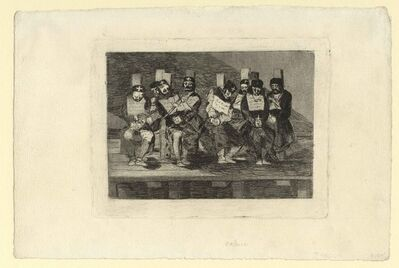Francisco de Goya, 'No se puede saber por qué – One can't tell why', ca. 1808–1814