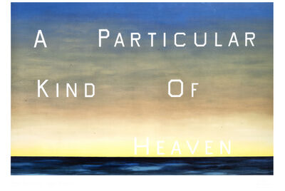 Ed Ruscha, 'A Particular Kind Of Heaven', 1983
