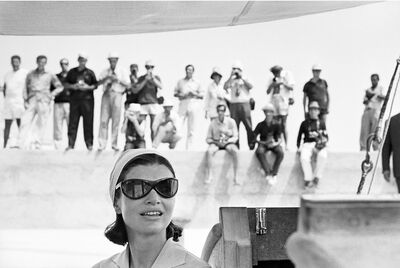 Benno Graziani, 'Jackie Kennedy and paparazzi. Amalfi, August 1962. ', 1962