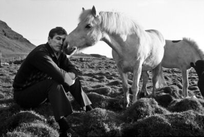 Harry Benson, 'Bobby Fischer with Horse, Iceland', 1972