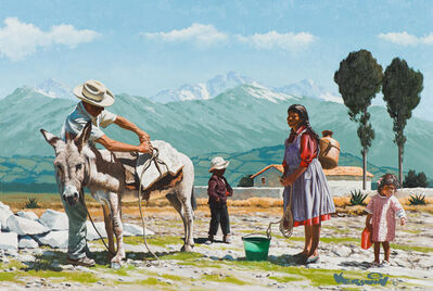 Roy Kerswill, 'Family with Burro', 20th/21st Century