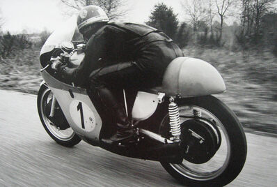 Jesse Alexander, 'Giacomo Agostini action going away from camera', 1967