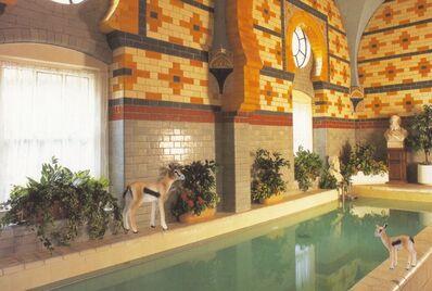 Vikky Alexander, 'Gazelles at the Harrogate Baths', 2013
