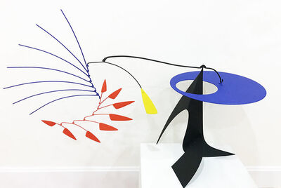 Manuel Marin, 'Blue bird with feathers (black-red-yellow)', 1998