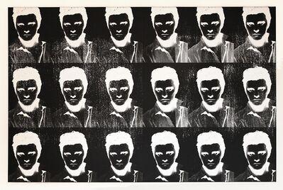 Gavin Turk, 'Multiple Negative Elvis Silver', 2011