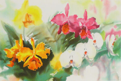 David Fu-Ji Tsang, 'Untitled (Orchid flowers)', End of 20th century-Early 21th century