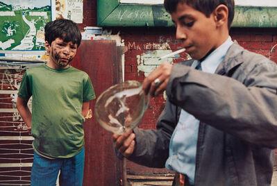Helen Levitt, 'New York (boy with bubble)', 1972-printed 1992