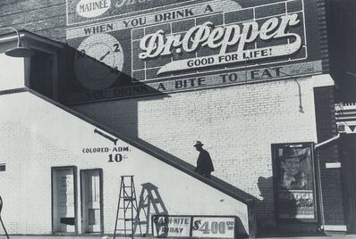 Marion Post Wolcott, 'Negro Man Entering Movie Theater by Outside Stairway (Colored Entrance), Belzoni, Mississippi', 1939-printed later