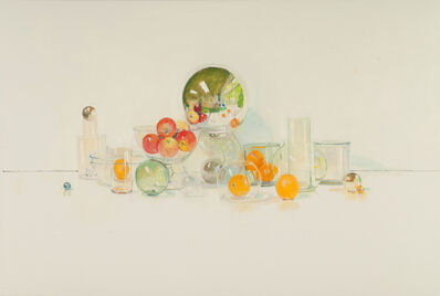 David Summers, 'Happy Still Life with Five Apples, Five Oranges', 2017