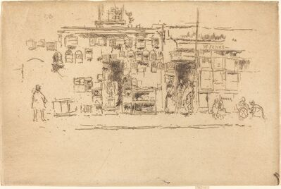 James Abbott McNeill Whistler, 'Bird-Cages Chelsea', ca. 1886/1888