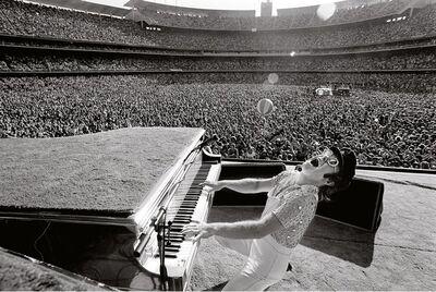 Terry O'Neill, 'English singer songwriter Elton John performing at Dodger Stadium in Los Angeles, October 1975', 1975